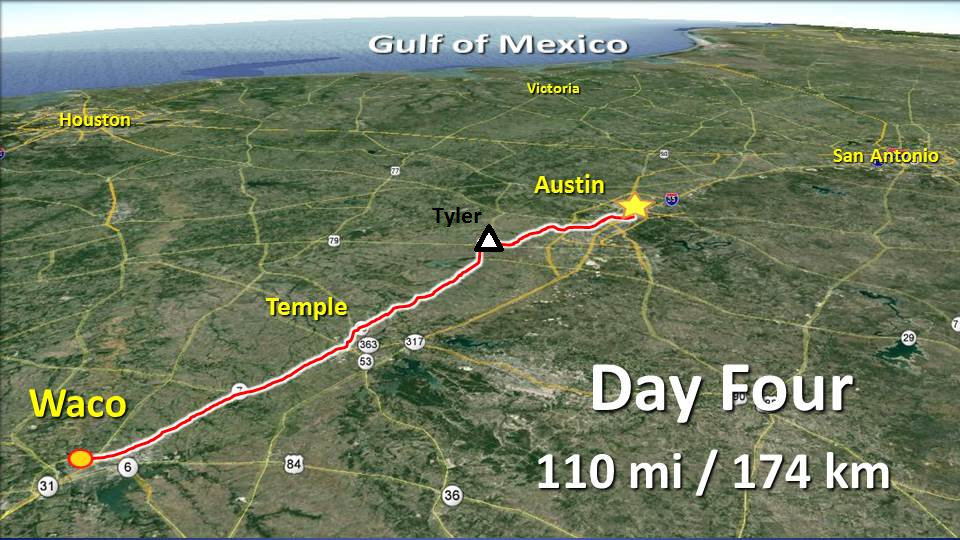 Day 4 – Waco to Austin – not